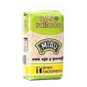PAN RALLADO AJO Y PEREJIL 500g MIAU